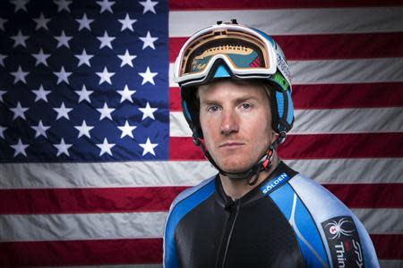Olympic alpine skier Ted Ligety poses for a portrait during the 2013 U.S. Olympic Team Media Summit in Park City, Utah in this file photo