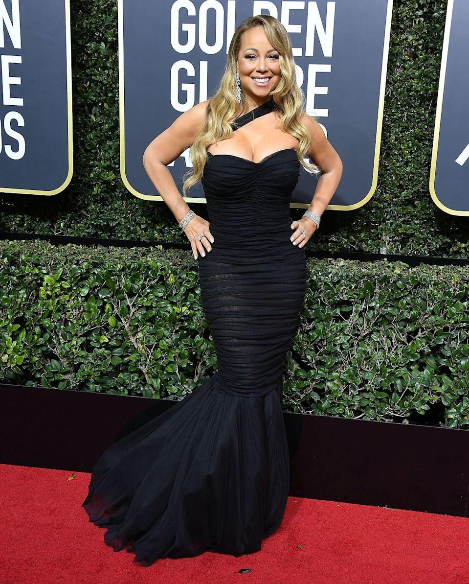 """<p>The Grammy winner had to remind the <em>Today</em> anchor on the 2018 carpet that she'd never been nominated before as a songwriter for a Golden Globe after he asked if she ever got tired of racking up so many accolades. """"I have never been nominated before as a songwriter, and many times men forget that women also write songs so tonight we're in celebration of that,"""" <a href=""""https://people.com/music/golden-globes-2018-mariah-carey-al-roker-red-carpet/"""" rel=""""nofollow noopener"""" target=""""_blank"""" data-ylk=""""slk:Mariah added"""" class=""""link rapid-noclick-resp"""">Mariah added</a>. Luckily, tension seemed to fade quickly after Mariah turned to Sharon Stone and joked that she was """"going to steal her diamonds later.""""</p>"""