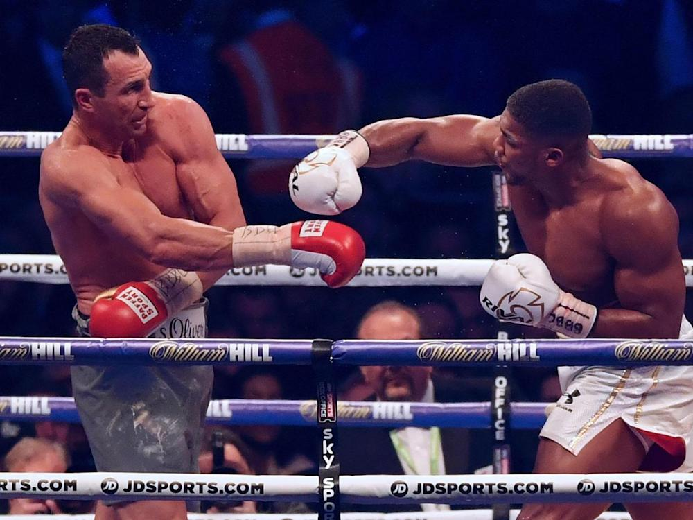 Joshua and Klitschko went toe to toe in a classic at Wembley (Getty)