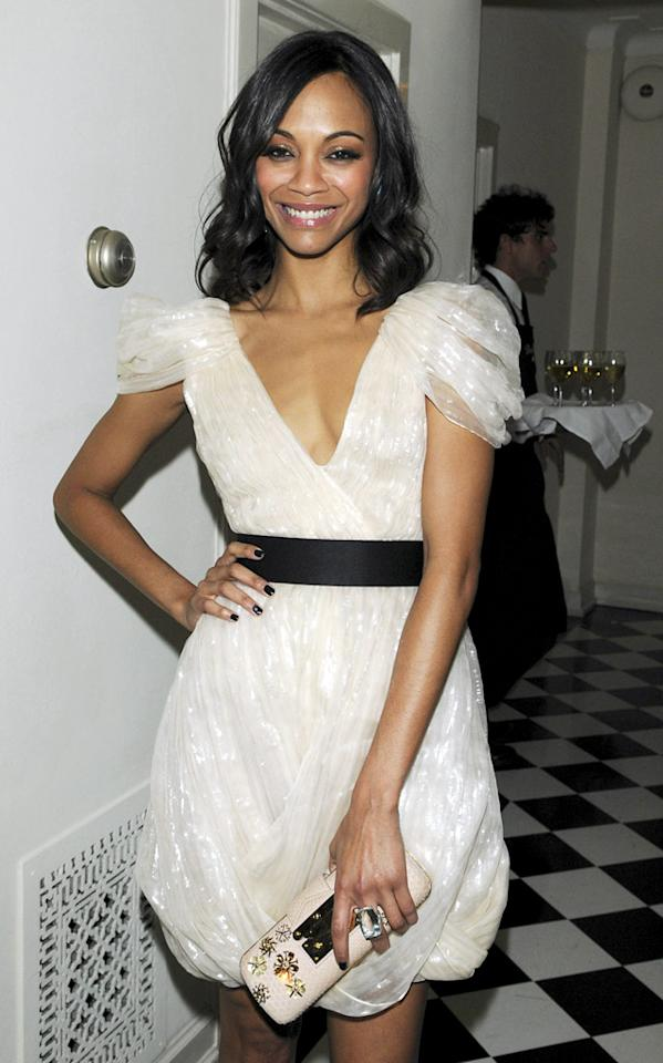 """Avatar"" star Zoe Saldana is an out-of-this-world beauty that's surprisingly still on the market. Jean Baptiste Lacroix/<a href=""http://www.wireimage.com"" target=""new"">WireImage.com</a> - January 15, 2010"