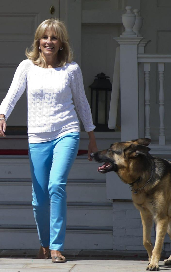 Champ spent his eights years at the Naval Observatory during Mr Biden's vice presidency - AFP