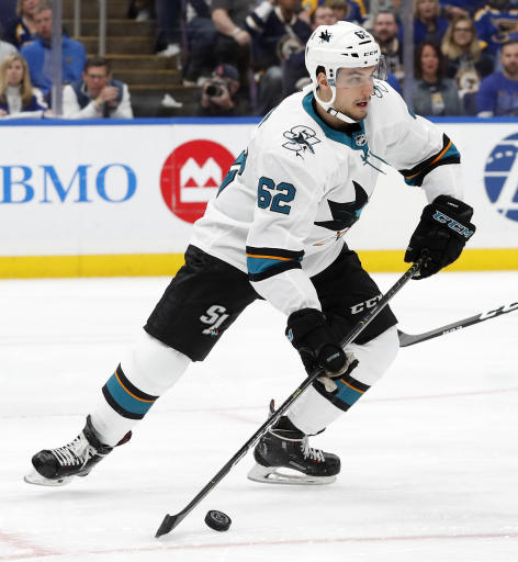 Sharks re-sign F Labanc to one-year contract