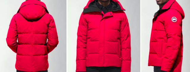 Photo issued by Garda of a red/orange Canada Goose Jacket similar to the one worn by Keane Mulready-Woods when he was last seen on Sunday. (PA)