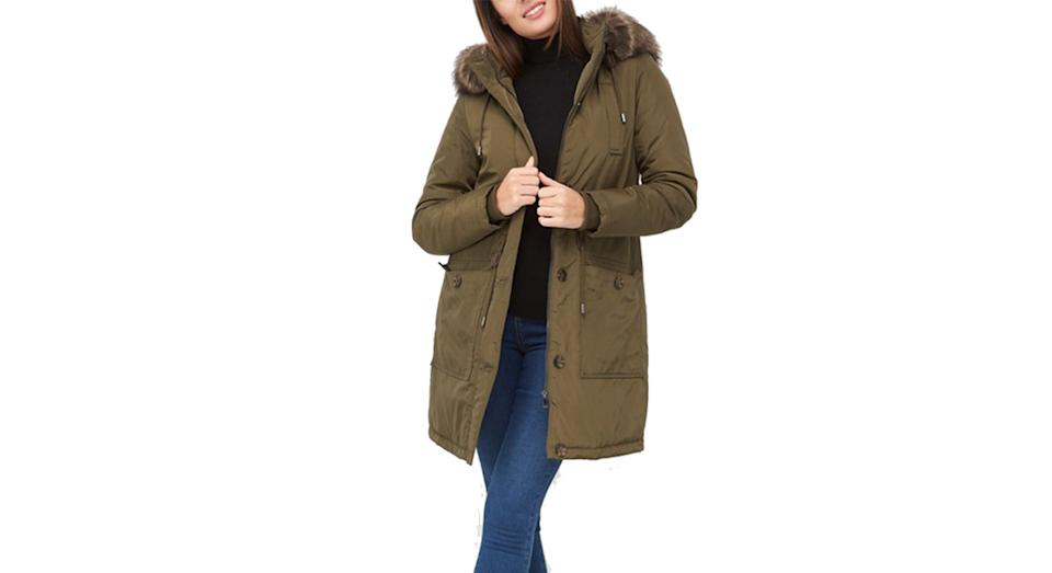 V by Very Ultimate Parka with Faux Fur Trim