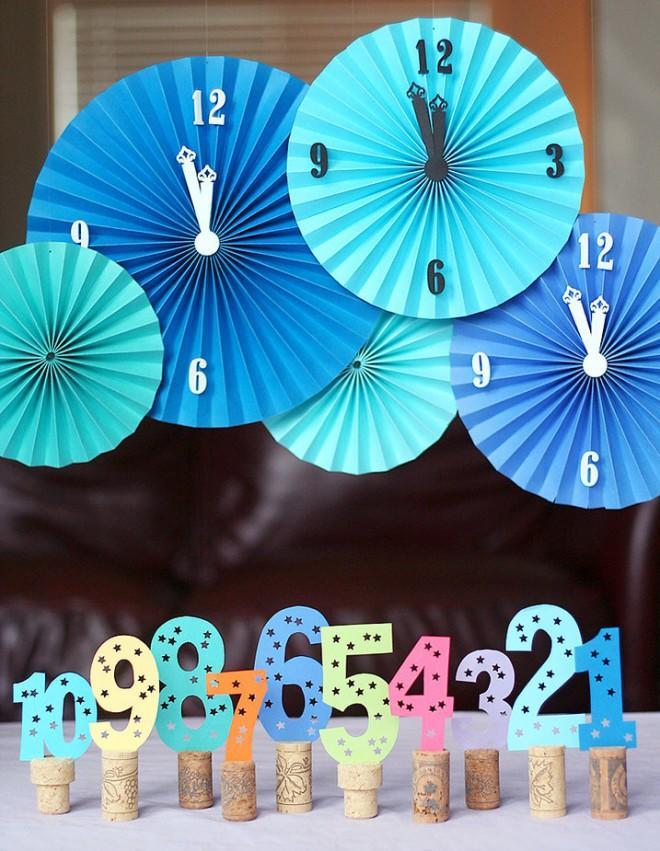 """<div class=""""caption-credit""""> Photo by: Pizzazzerie</div><div class=""""caption-title"""">Use Countdown Party Decor</div>Counting down the new year is an essential part of any New Year's party! And without the proper countdown gear, you can't do it right. How cute are these cork props and clocks? <br> <i><a href=""""http://www.babble.com/babble-voices/celebrations-with-design-mom-gabrielle-blair/2012/12/21/new-years-celebrations/?cmp=ELP