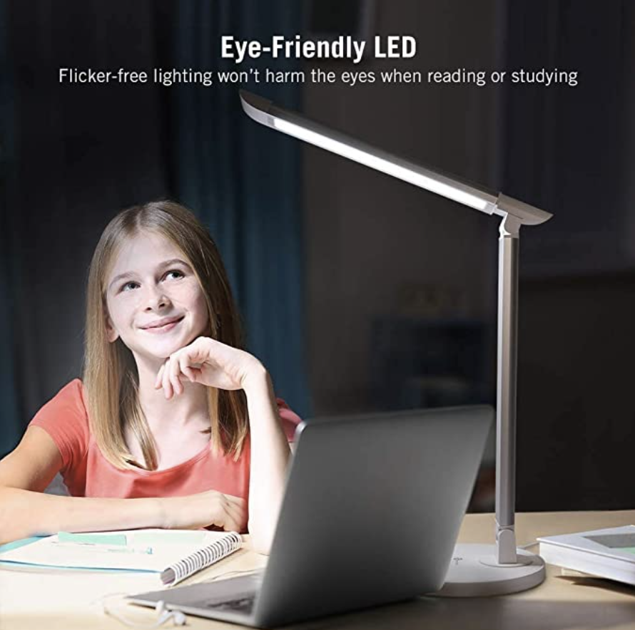 LED Desk Lamp, Eye-caring Table Lamps. PHOTO: Amazon