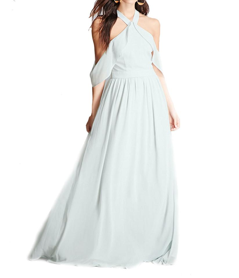 """<p>Soieblu Flounce Maxi Dress, $58, <a rel=""""nofollow"""" href=""""http://www.forever21.com/Product/Product.aspx?BR=f21&Category=women-new-arrivals-clothing-dresses&ProductID=2000111077&VariantID="""">forever21.com</a> </p>"""