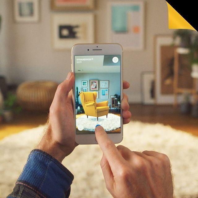 "<p>One of the first major players to introduce an augmented reality feature to their products was IKEA. The Swedish homeware company allows you to see through your camera lens what various pieces of furniture would look like placed in your room, before you make the purchase.</p><p><a href=""https://www.instagram.com/p/B20DODBjVVF/"" rel=""nofollow noopener"" target=""_blank"" data-ylk=""slk:See the original post on Instagram"" class=""link rapid-noclick-resp"">See the original post on Instagram</a></p>"