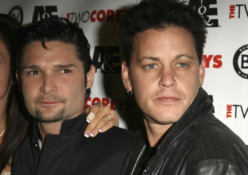 "Corey Feldman and Corey Haim pictured at ""The Two Coreys"" Premiere Party in Hollywood, California, July 27, 2007. © Digital / MediaPunch. /IPX"