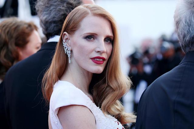 "<p>Similar to McGowan, Chastain also called upon Weinstein's male collaborators to speak up and denounce his alleged actions. ""Yes. I'm sick of the media demanding only women speak up. What about the men? Perhaps many are afraid to look at their own behavior…."" she shared. (Photo: Gisela Schober/Getty Images) </p>"