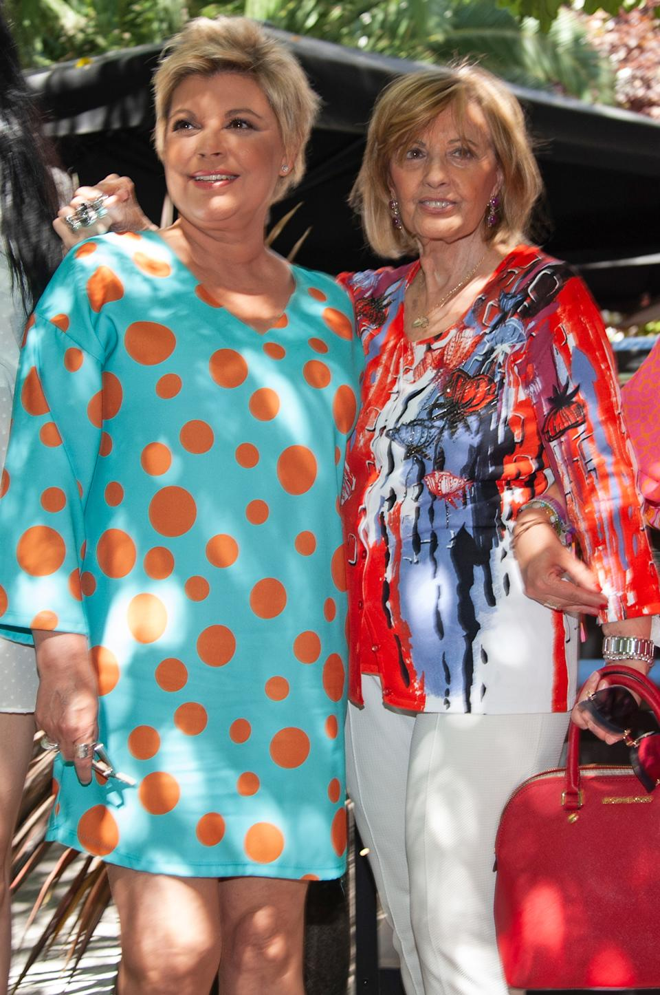 MADRID, SPAIN - JUNE 18: Terelu Campos (L) and Maria Teresa Campos (R) attends a lunch to celebrate the Maria Teresa Campos's 78th birthday on June 18, 2019 in Madrid, Spain. (Photo by Europa Press Entertainment/Europa Press via Getty Images)
