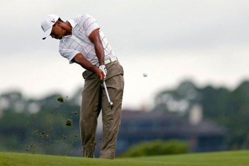 iger Woods of the United States hits a shot during a practice round of the 94th PGA Championship at the Ocean Course on August 8 in Kiawah Island, South Carolina. The strongest field ever put together for a tournament will tackle one of the most challenging golf courses in the United States when the championship begins this week