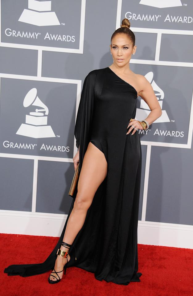 LOS ANGELES, CA - FEBRUARY 10:  Singer/actress Jennifer Lopez attends the 55th Annual GRAMMY Awards at STAPLES Center on February 10, 2013 in Los Angeles, California.  (Photo by Steve Granitz/WireImage)