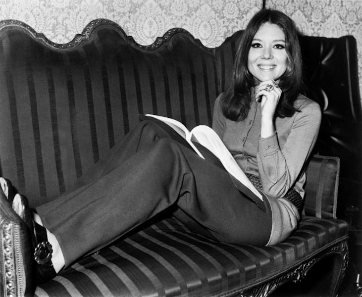 British actress Diana Rigg, seen here in 1970, is best known for playing Emma Peel in the classic TV series 'The Avengers'