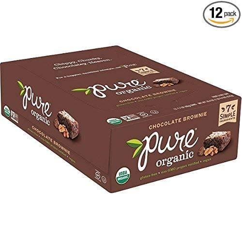 <p>Recently, we've been obsessed with this <span>Pure Organic Chocolate Brownie Bar</span> ($19 for 12); it tastes like a real brownie, with ingredients we can pronounce.</p>