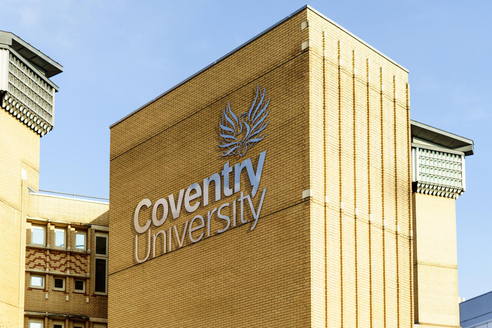 Coventry, UK - FEBRUARY 10, 2017 : University of Coventry in UK, Engineering Building
