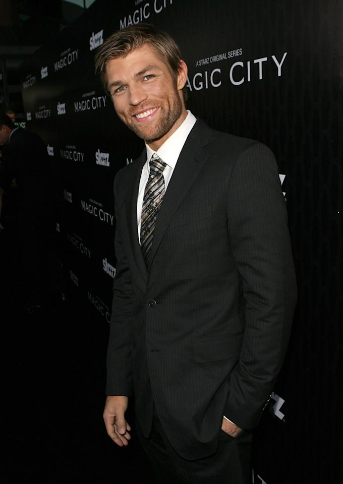 "Liam McIntyre attends the Starz '<a target=""_blank"" href=""http://tv.yahoo.com/magic-city/show/46996"">Magic City</a>' Los Angeles Series Premiere at Directors Guild Of America on March 20, 2012 in Los Angeles, California."