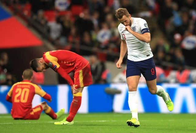 Harry Kane grabbed another Wembley hat-trick (Mike Egerton/PA)