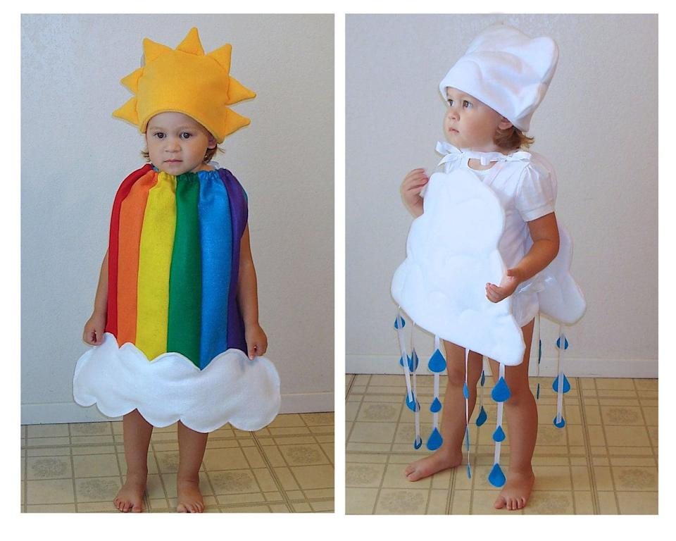 """<p>After a rainy day comes a rainbow, even on <a class=""""link rapid-noclick-resp"""" href=""""https://www.popsugar.com/Halloween"""" rel=""""nofollow noopener"""" target=""""_blank"""" data-ylk=""""slk:Halloween"""">Halloween</a> with the help of this adorable <span>rainbow and rain cloud set</span> ($140).</p>"""
