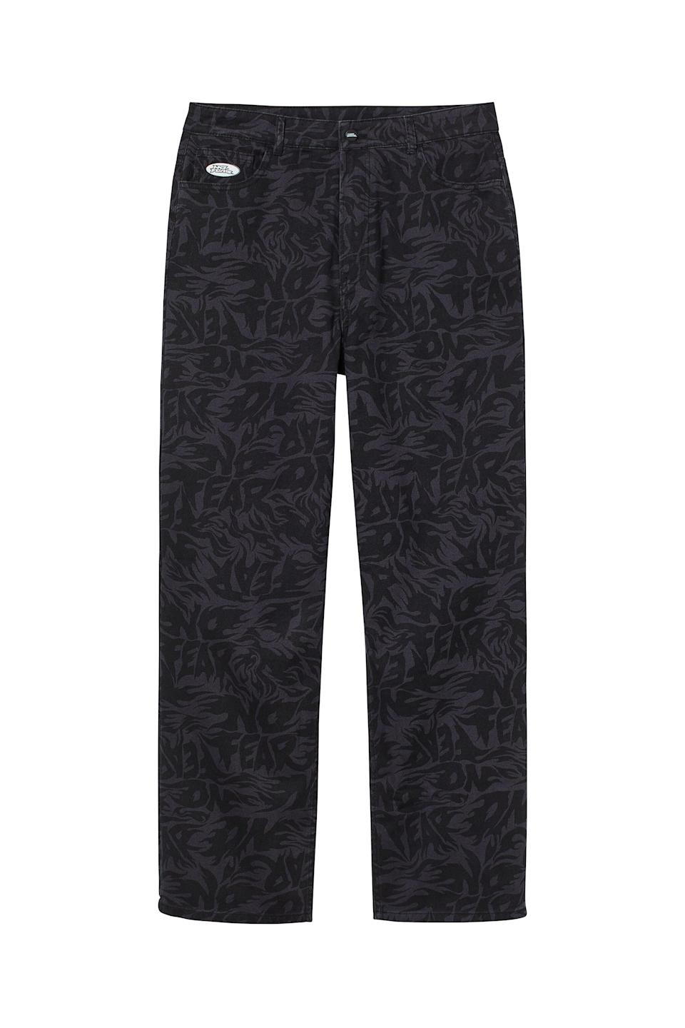 <p>Pair that vest with these nostalgic.<span>No Fear x H&amp;M Loose Fit Twill Pants</span> ($25). Thankfully, though, these pants are high waisted, which is the 2021 tweak we appreciate.</p>