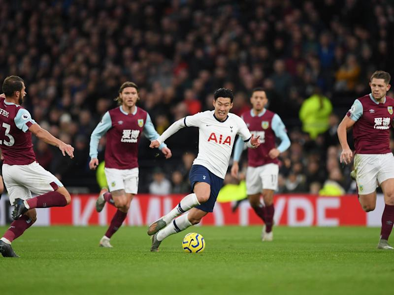 Son Heung-Min storms past Burnley players to score for Tottenham: Getty Images