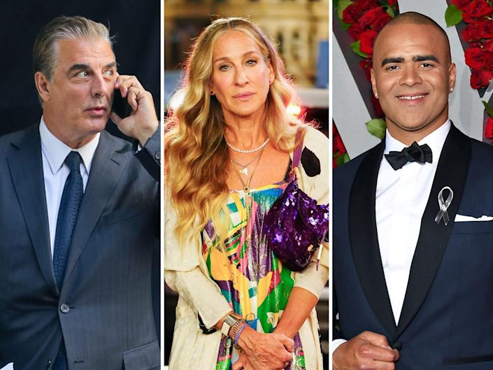 chris noth sarah jessica parker and christopher jackson and just like that reboot cast