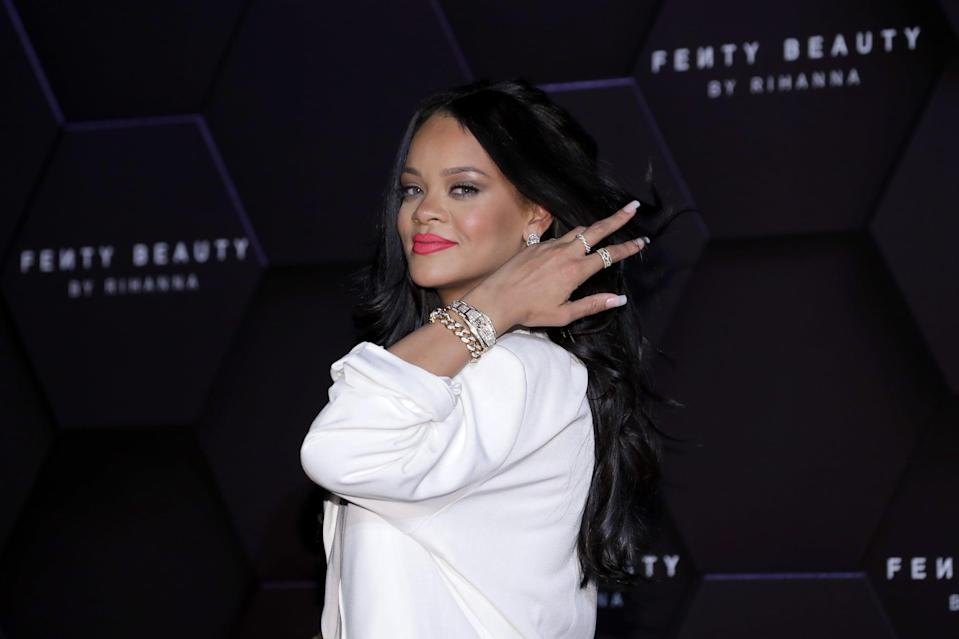 SEOUL, SOUTH KOREA - SEPTEMBER 17: Rihanna attends an event for 'FENTY BEAUTY' artistry beauty talk with Rihanna at Lotte World Tower on September 17, 2019 in Seoul, South Korea. (Photo by Han Myung-Gu/WireImage)