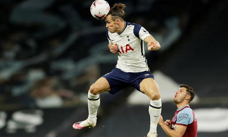 Gareth Bale in the thick of the action with West Ham's Aaron Cresswell