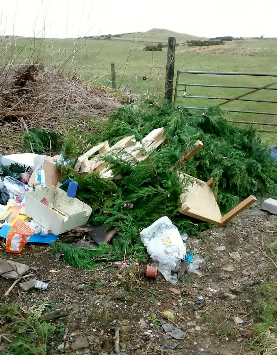 Beauty spots have also fallen victim to fly-tipping, with people dumping rubbish on rural verges and in lanes and fields. (Picture: SWNS)