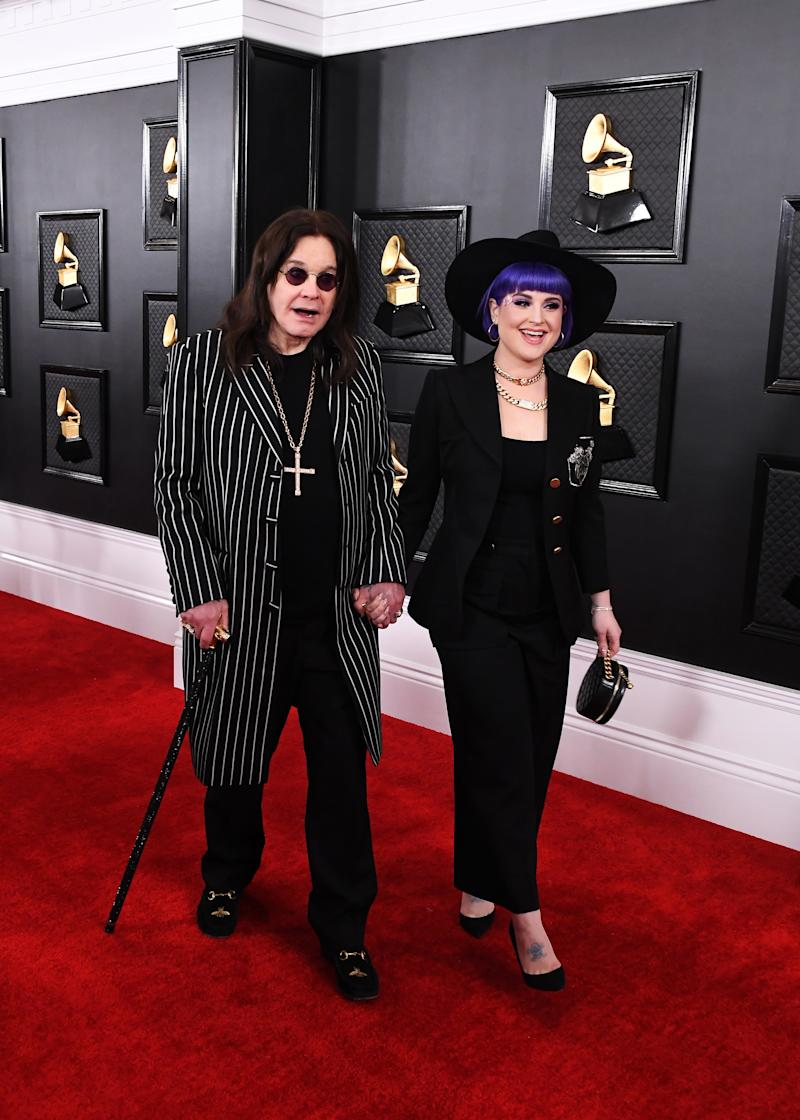 LOS ANGELES, CALIFORNIA - JANUARY 26: (L-R) Ozzy Osbourne and Kelly Osbourne attend the 62nd Annual GRAMMY Awards at Staples Center on January 26, 2020 in Los Angeles, California. (Photo by Steve Granitz/WireImage)