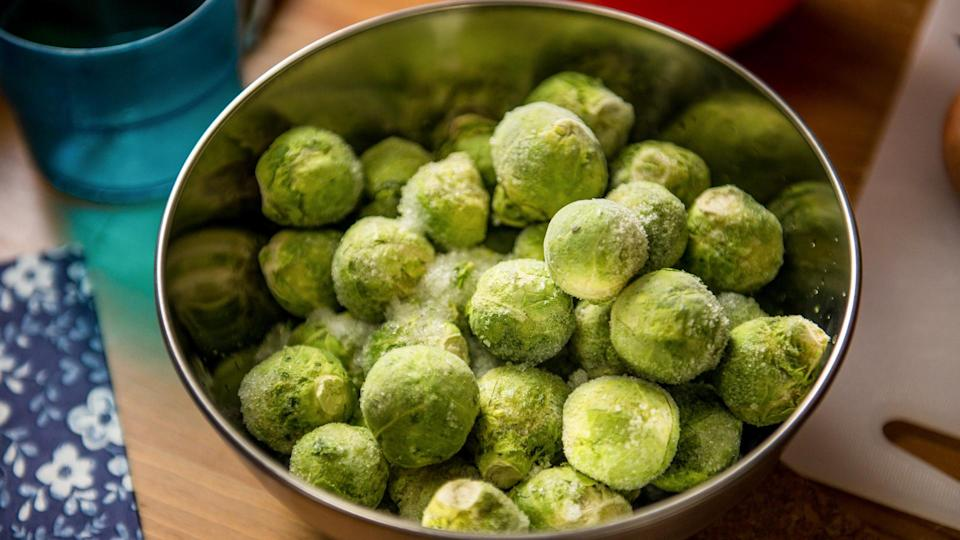 <p><strong>Cost:</strong> $1.27</p> <p>Bring out these tasty, tiny cabbages all year round, not just when you're making a holiday turkey. A portion of Brussels sprouts packs 12% of your day's fiber needs and 90% of your vitamin C, but only 45 calories and just 15 milligrams of sodium. Luckily, Brussels sprouts are inexpensive and heart-healthy.</p>