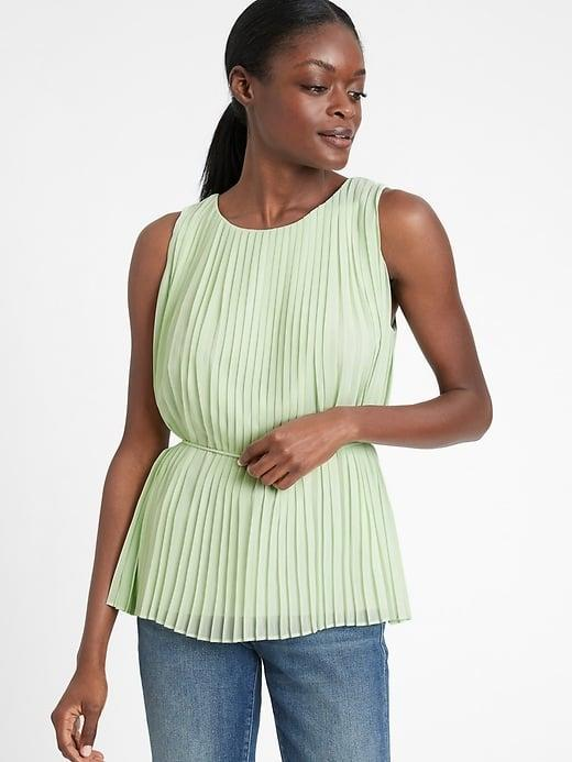 <p>The <span>Banana Republic Pleated Top</span> ($59, originally $75) looks equally nice under a blazer with your favorite necklace. </p>