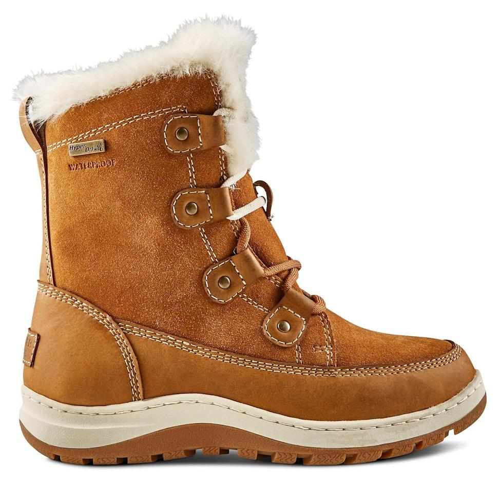 "<p>MAA Score: 9</p> <p><strong>To buy:</strong> $120; <a href=""https://www.marks.com/en/denver-hayes-womens-icefx-hd3-waterproof-winter-boots-brown-265354.html#265354%5Bcolor%5D=BROWN&265354%5Bwidth%5D=REG"" target=""_blank"">marks.com.</a></p>"