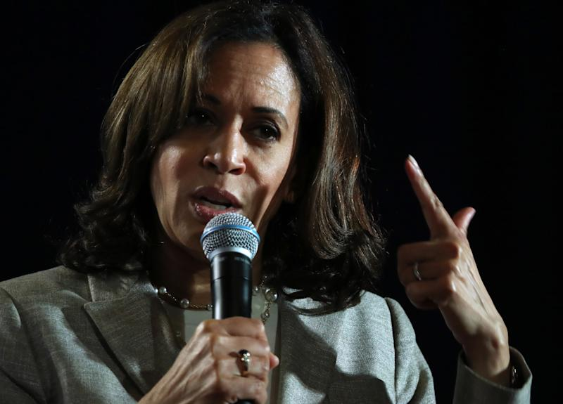 Democratic presidential candidate U.S. Sen. Kamala Harris (D-CA) speaks during the AARP and The Des Moines Register Iowa Presidential Candidate Forum on July 16, 2019 in Bettendorf, Iowa. (Photo: Justin Sullivan/Getty Images)