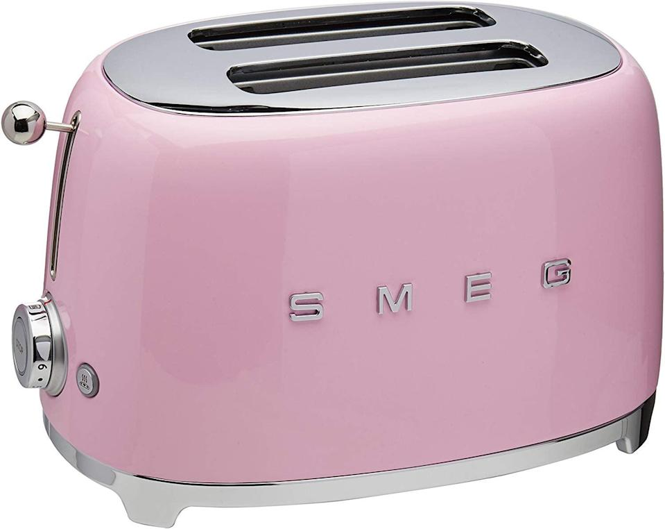 <p>You can get this retro <span>Smeg 2-Slice Toaster-Pink</span> ($168) in all sorts of colors.</p>