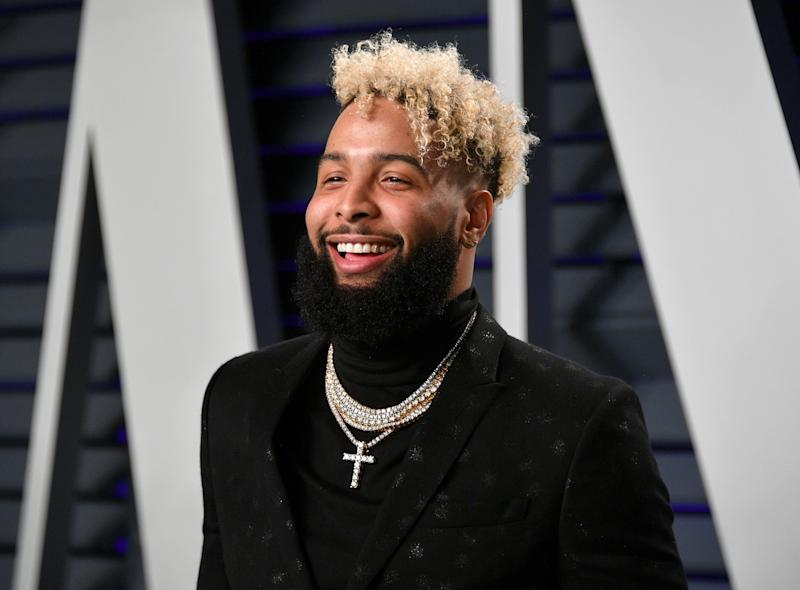 BEVERLY HILLS, CA - FEBRUARY 24: Odell Beckham Jr. attends the 2019 Vanity Fair Oscar Party hosted by Radhika Jones at Wallis Annenberg Center for the Performing Arts on February 24, 2019 in Beverly Hills, California. (Photo by Dia Dipasupil/Getty Images)