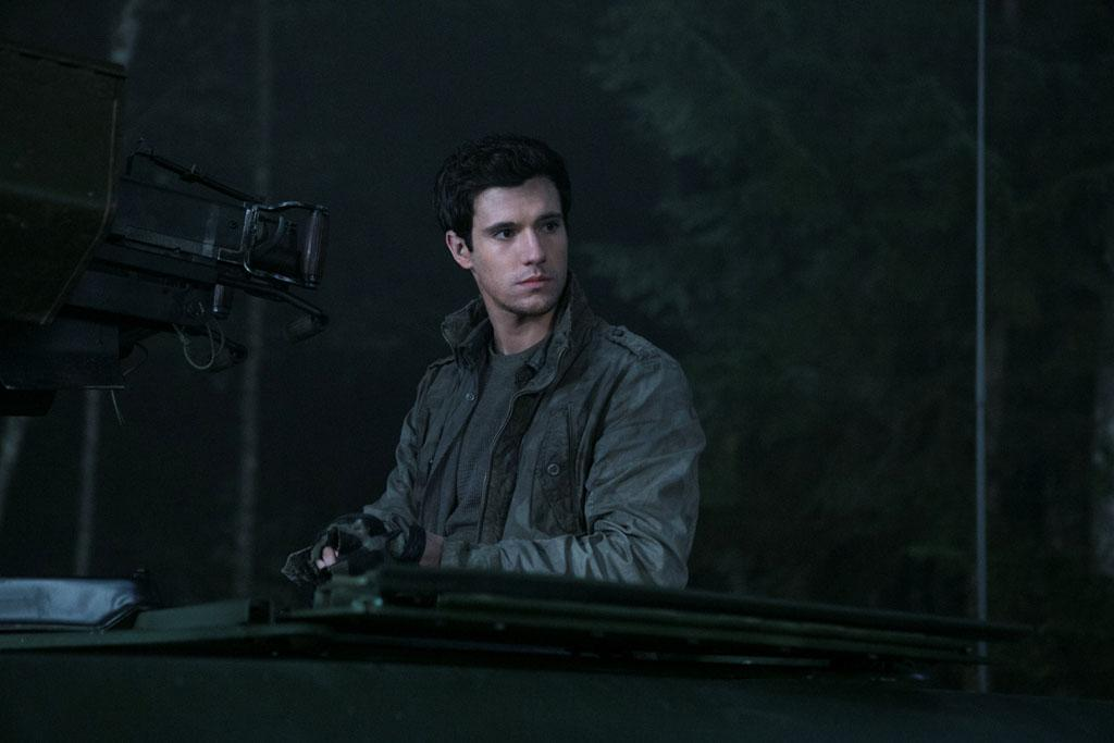"Drew Roy in the ""Falling Skies"" episode, ""Collateral Damage."""