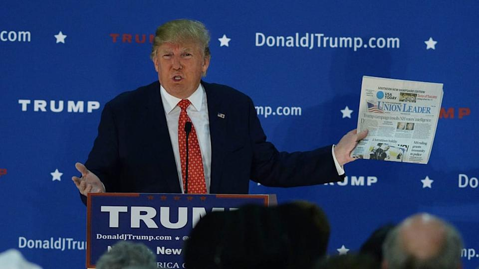 Republican Presidential Candidate Donald Trump Campaigns In Nashua, New Hampshire | Darren McCollester/Getty Images
