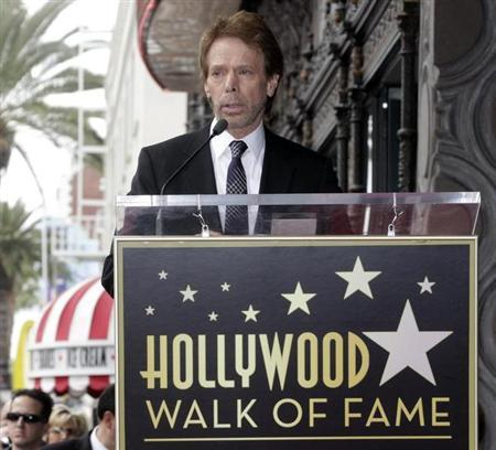 Film and television producer Jerry Bruckheimer speaks during ceremonies unveiling his star on the Hollywood Walk of Fame in Hollywood