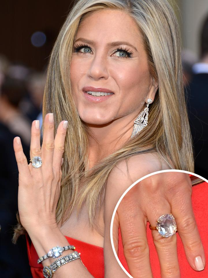 Jennifer Aniston arrives at the Oscars in Hollywood, California, on February 24, 2013.
