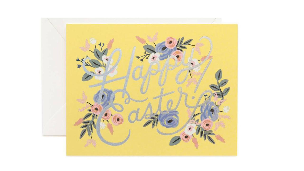 """<p>Sending and receiving Easter cards is one of our favorite <a href=""""http://www.womansday.com/life/travel-tips/g2175/easter-traditions/"""">traditions for the spring holiday</a> (well, besides indulging in <a href=""""http://www.womansday.com/food-recipes/food-drinks/g2201/easter-candy/"""">delicious Easter candy</a> and hosting <a href=""""http://www.womansday.com/food-recipes/g2867/easter-brunch-recipes/"""">Easter brunch</a>). If you can't be around friends and family for Easter—or you're looking for a cute way to invite them to your <a href=""""http://www.womansday.com/home/decorating/g2893/easter-party-ideas/"""">Easter party</a>—send one of these gorgeous Easter greeting cards or a free online invitations to that <a href=""""http://www.womansday.com/life/g2892/easter-egg-hunt-ideas/"""">Easter egg hunt</a>. Sending an Easter card is a great way to remind a loved one that you're thinking about them even if you can't be physically close to each other during the season. Whether you want something customizable that you can add an adorable family photo to (maybe some kid pictures!) or you want a lovely artist-designed piece of stationery, these options are great for whatever you're looking for. And don't forget to write a sweet, personalized note on whatever card you choose to send. Nothing says """"I love you"""" quite like a handwritten hello.  </p>"""