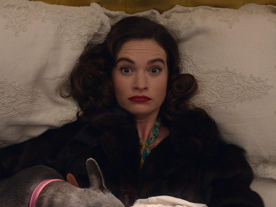 Lily James in The Pursuit of Love (Theodora Films Limited & Moonage Pictures Limited)