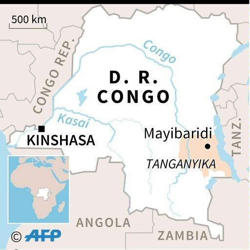 The accident happened near Mayibaridi, in eastern DR Congo