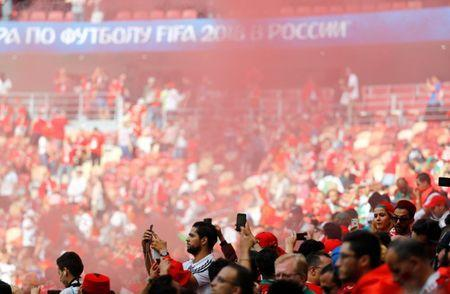 Soccer Football - World Cup - Group B - Portugal vs Morocco - Luzhniki Stadium, Moscow, Russia - June 20, 2018 Fans after the match REUTERS/Kai Pfaffenbach