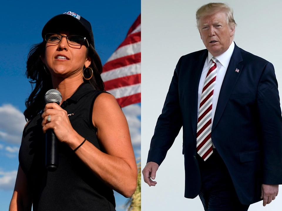 <p>Lauren Boebert threatens to 'rein in' Big Tech and accuses Democrats of being 'fascists' for not doing so</p> (Getty Images)