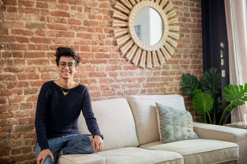 Khatija Ali lives in one of Node's co-living apartments in Brooklyn. (Khatija Ali)