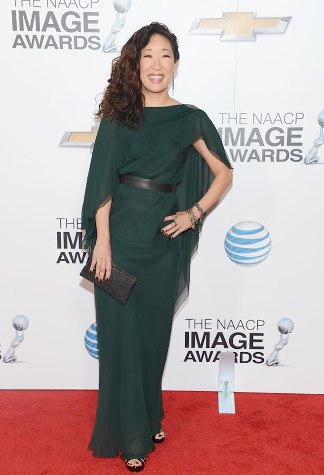 LOS ANGELES, CA - FEBRUARY 01: Actress Sandra Oh arrives at the 44th NAACP Image Awards held at The Shrine Auditorium on February 1, 2013 in Los Angeles, California. (Photo by Jason Kempin/WireImage)