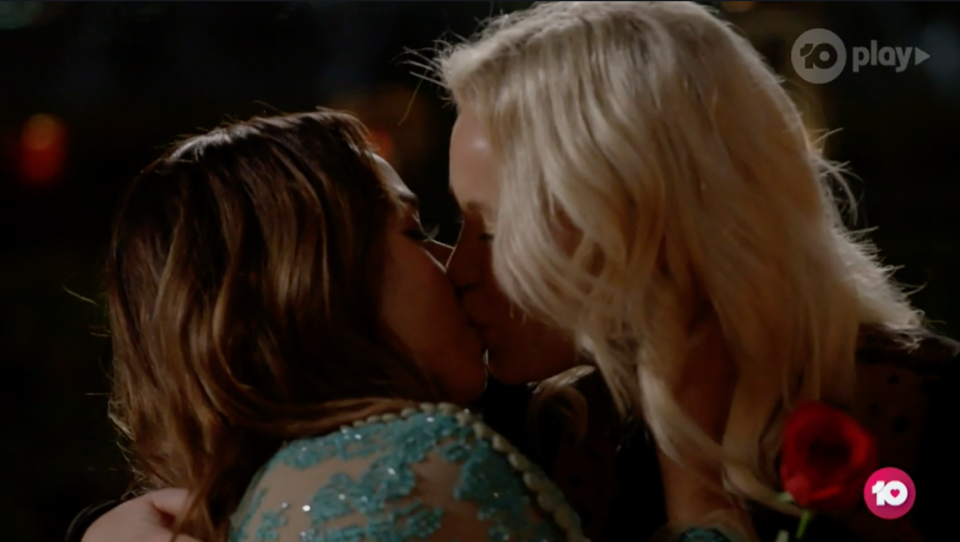 Holly and Brooke's chemistry! Photo: Network 10