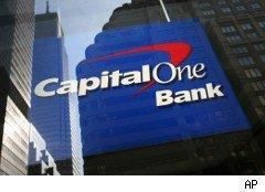 Capital One bank sign