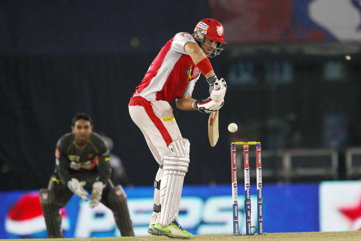 Luke Pomersbach during match 59 of of the Pepsi Indian Premier League between The Kings XI Punjab and the Sunrisers Hyderabad held at the PCA Stadium, Mohali, India  on the 11th May 2013.(BCCI)